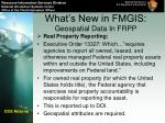 what s new in fmgis geospatial data in frpp
