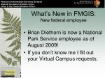 what s new in fmgis new federal employee
