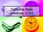 california state university csu