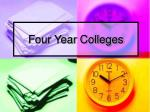 four year colleges