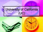 university of california uc