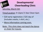 developmental cheerleading clinic