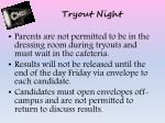 tryout night