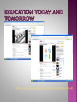 education today and tomorrow