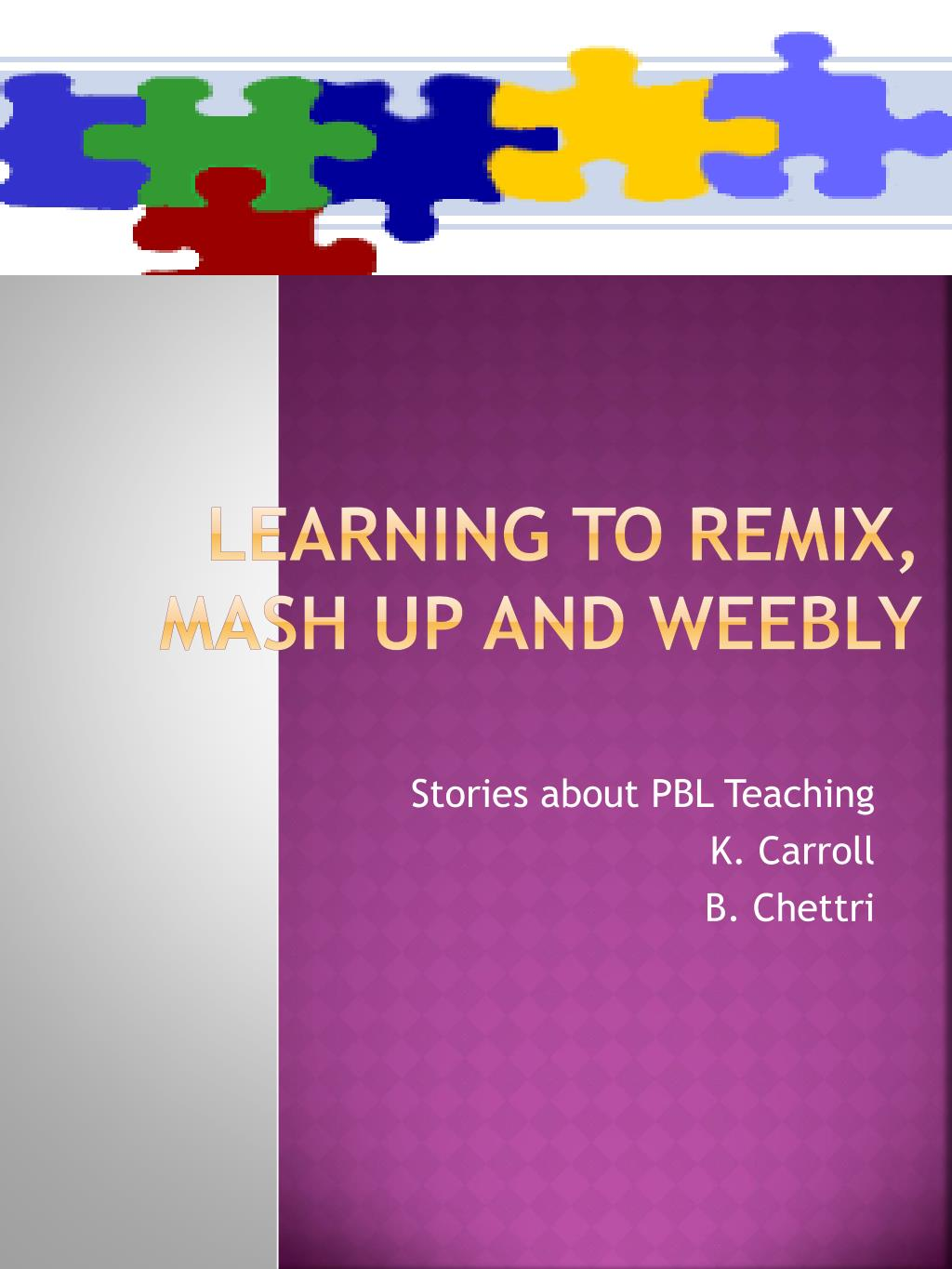 learning to remix mash up and weebly l.