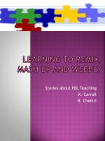 learning to remix mash up and weebly