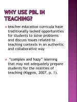 why use pbl in teaching