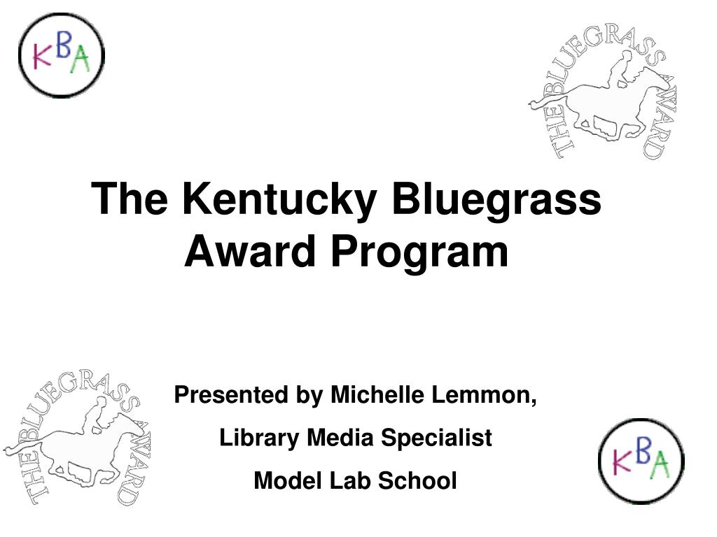 the kentucky bluegrass award program l.