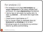 for analyse 1