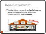 hvad er et system