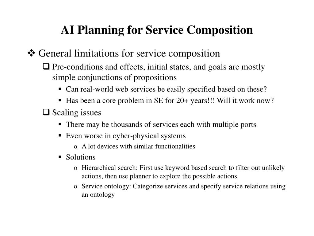 AI Planning for Service Composition