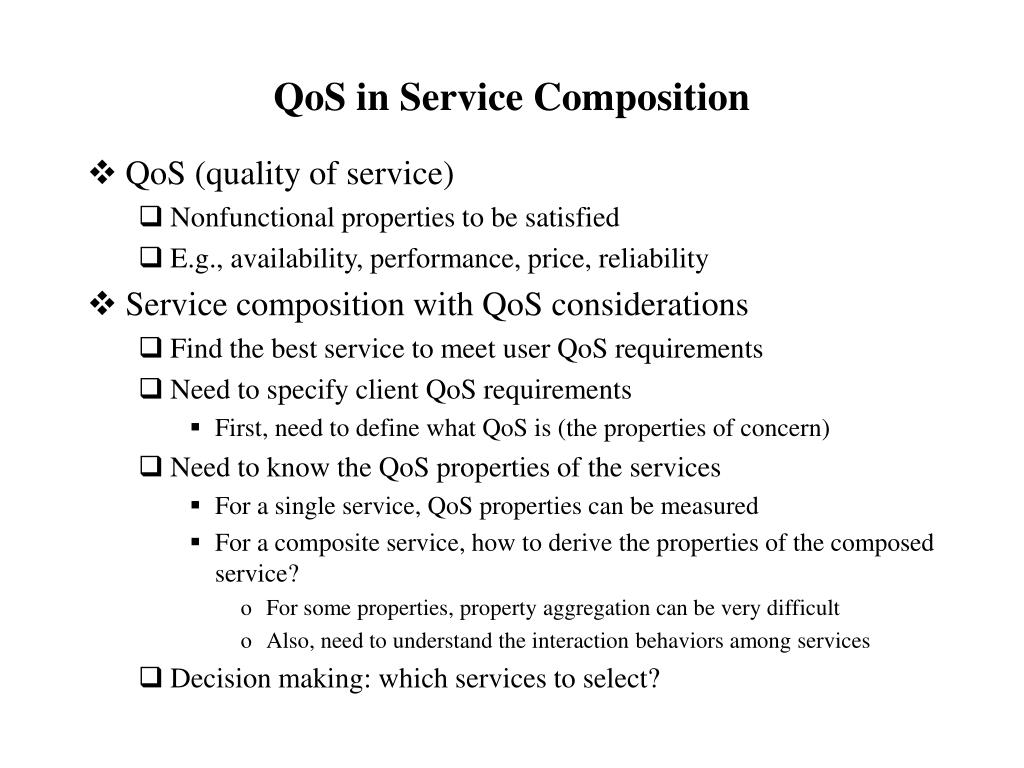 QoS in Service Composition