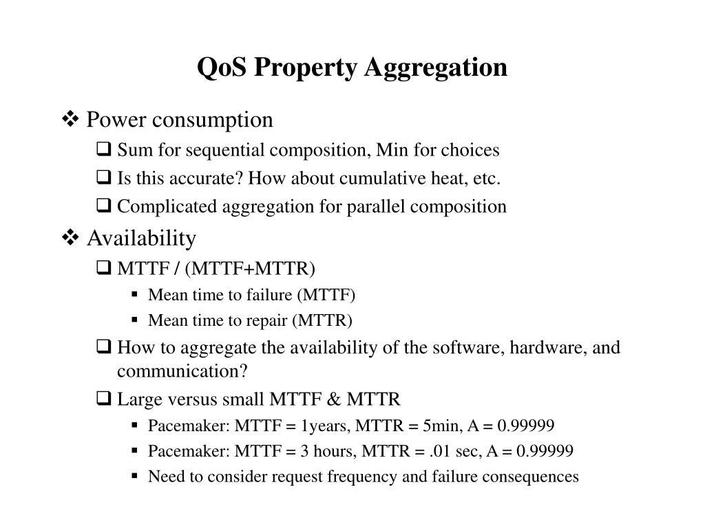 QoS Property Aggregation