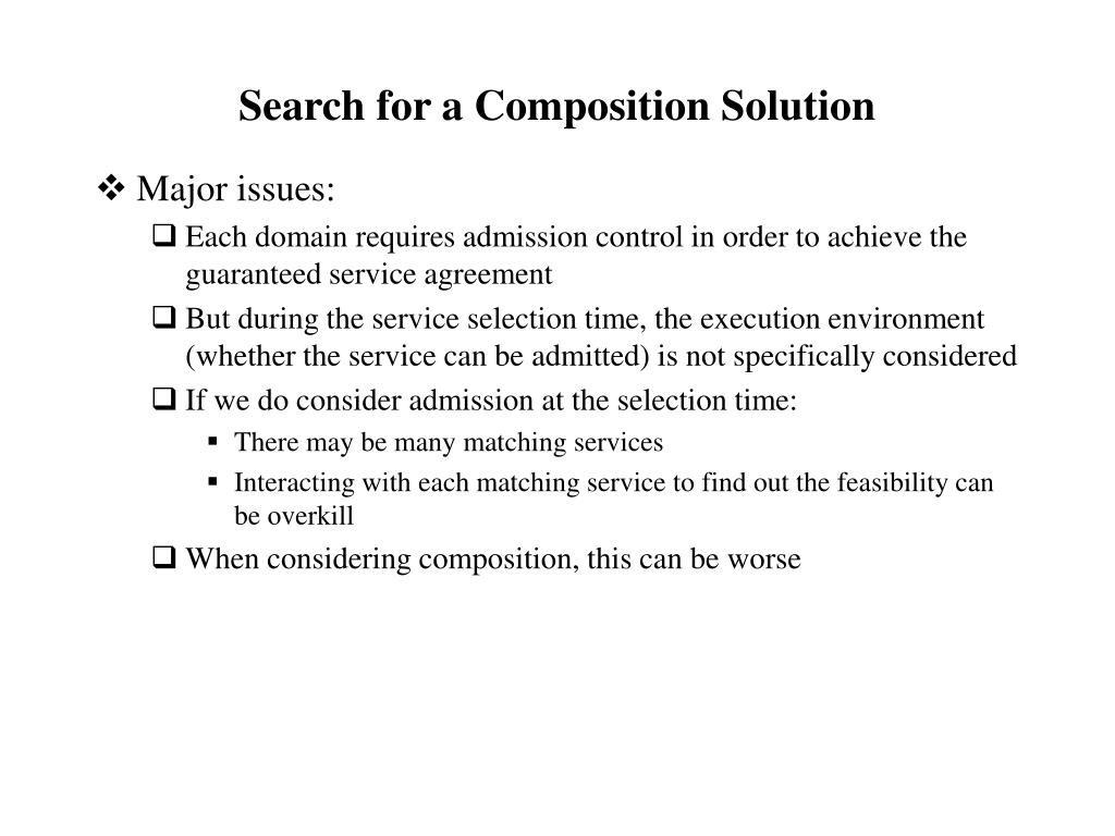 Search for a Composition Solution