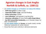 agrarian changes in east anglia norfolk suffolk ca 1300 1