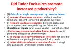 did tudor enclosures promote increased productivity