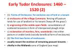 early tudor enclosures 1460 1520 2