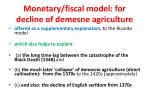 monetary fiscal model for decline of demesne agriculture