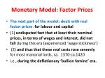 monetary model factor prices