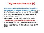 my monetary model 1