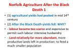 norfolk agriculture after the black death 1