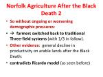 norfolk agriculture after the black death 2