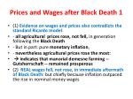 prices and wages after black death 1