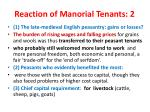 reaction of manorial tenants 2
