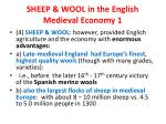 sheep wool in the english medieval economy 1