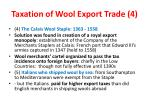 taxation of wool export trade 4