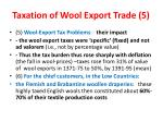 taxation of wool export trade 5