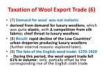 taxation of wool export trade 6