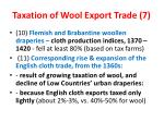 taxation of wool export trade 7