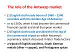 the role of the antwerp market