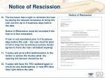 notice of rescission