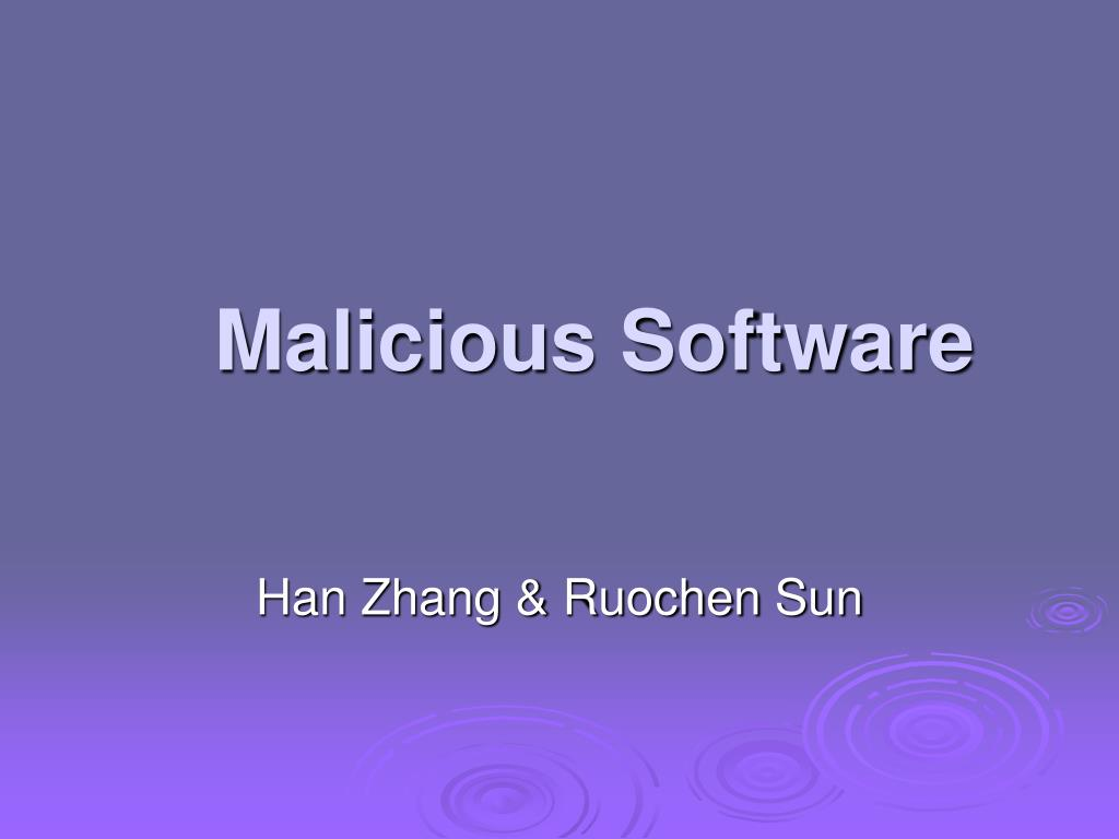 malicious software l.