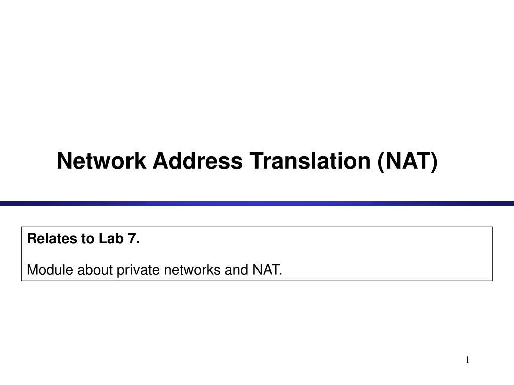 network address translation nat l.
