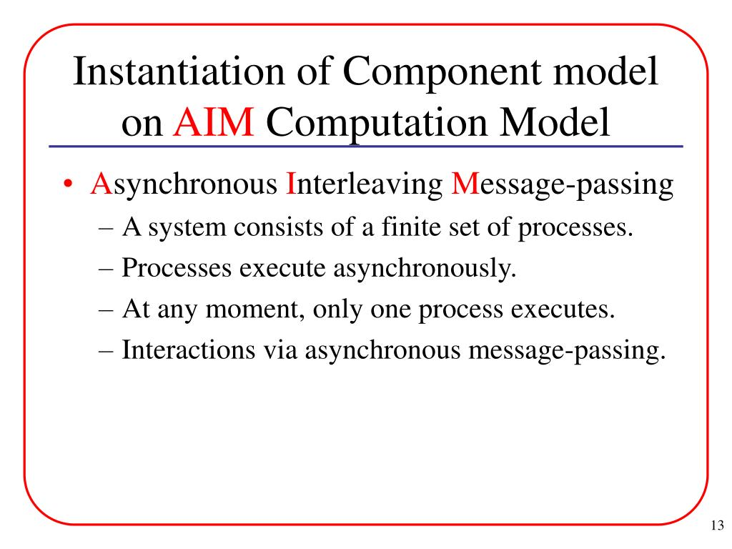 Instantiation of Component model on