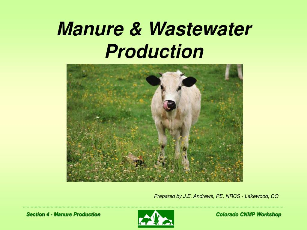 manure wastewater production l.