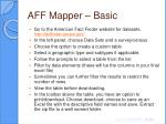 aff mapper basic