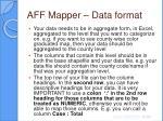 aff mapper data format