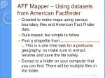 aff mapper using datasets from american factfinder