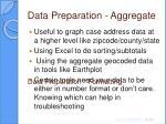 data preparation aggregate