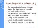 data preparation geocoding