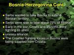 bosnia herzegovina cont
