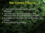 war crimes tribunal