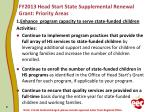 fy2013 head start state supplemental renewal grant priority areas