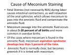 cause of meconium staining