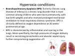 hyperoxia conditions