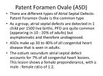 patent foramen ovale asd